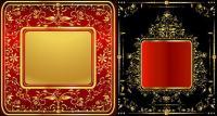 material de vectores de patrón de encaje dorado precioso