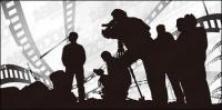 Tema del material de vector de película carácter sketch