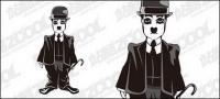 Chaplin เวกเตอร์วัสดุ