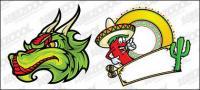 المكسيك الكرتون نمط متجه