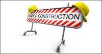 Imagen de obstáculos materiales de construcción 3D
