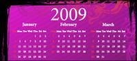 material de vectores de patrón de calendario 2009