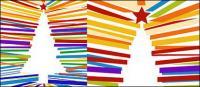 Árbol de Navidad coloridos líneas hechizo vector material