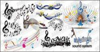 elementos prácticos de la música de vectores de material
