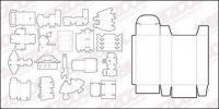様々 なベクター素材テンプレートのボックス