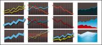 Statistics icon element vector material