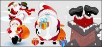 material de vetor de Santa Claus adorável