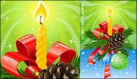 Bellamente decoradas material de vectores de Navidad