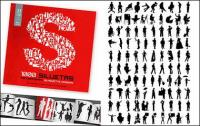 1000-Album, das verschiedene silhouette vektor Material-5