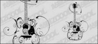 Material de vectores de patrón de guitarra