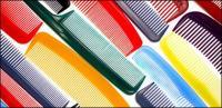 หวีวัสดุรูปภาพพื้นหลังที่มีสีสัน