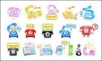 Teléfono lindo icono material de vectores