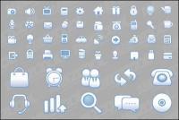 Web simple y práctico diseño icono material de vectores
