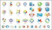 Un número de material de gráficos de vectores de plantilla de logotipo