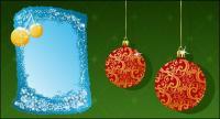 คริสต์มาสตกแต่ง 2 องค์ประกอบของเวกเตอร์วัสดุ