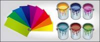 वेक्टर पेंट और रंग कार्डबोर्ड सामग्री