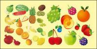 Variedad de frutas de material de vectores