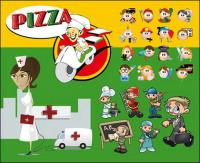 Varios papeles de personajes de dibujos animados