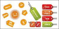 Vector decorative label sales material