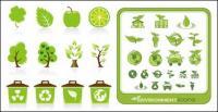 green icon vector material
