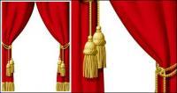 Vektor-red Curtain-material