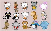 Dibujos animados animales vector material-2