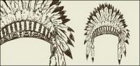 Kuno suku topi vektor bahan