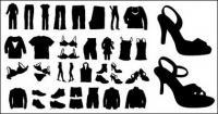 خيال متجهة من الملابس والأحذية
