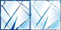 Material de vidrio resquebrajado de vectores
