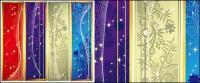 Sueño en forma de banner vertical patrón vector de material