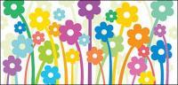 सुंदर फूल वेक्टर रेखांकनः सामग्री