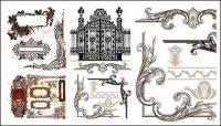 다양 한 실용적인 유럽 스타일 레이스 패턴 벡터 자료