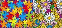 背景素材の素敵な花をベクトルします。