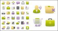 Web diseño gris verde púrpura icono material de vectores