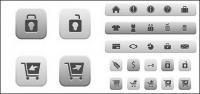 Compra en línea icono material de vectores