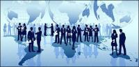La empresa mundial de vector material