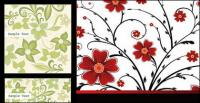 背景ファッション パターン ベクトル材料