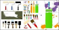 So paint paint paint brushes Vector material