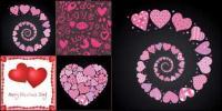4 schöne Valentine Element Vektor-material