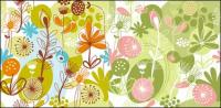 Lovely flowers and plant material vector