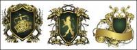 Material de vectores de patrón Europeo cinta magnífico escudo