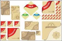 Elementos gráficos vectoriales relacionadas con la venta de material