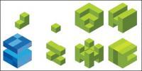 Logo de cube matériel graphique vectoriel