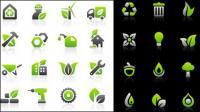 환경 보호 아이콘 설정 벡터 자료