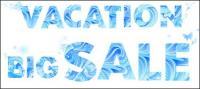 Verano azul de letras material de Vector