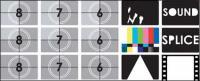 TV Test-Bildschirm-Vektor-material