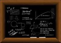Vektor Formel Tafel mit Material gef�llt