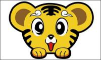 Peu de matière à la tête de tigre Mignon