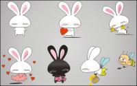 Amour lapin vecteur cartoon