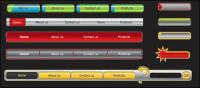 Material de vectores de menú de navegación de Web diseño